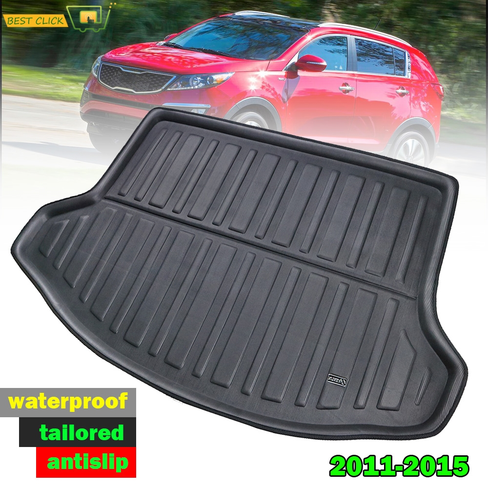 Rear Trunk Liner Cargo Boot Mat For KIA Sportage 2011-2015 Floor Tray Protector Carpet Mud Kick Pad 2012 2013 2014 R SL