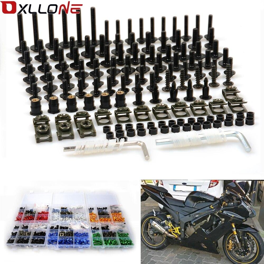 Kit de boulons de carénage d'accessoires de moto pour honda CBR600RR ABS CBR600F4i CBR500R CBR500R ABS CBF190R CBR900RR CBR929RR CBR954RR