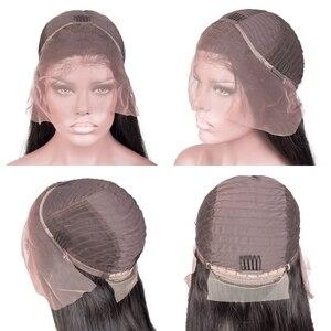 Image 5 - 変態カーリーレースのフロント人間の髪かつらブラジルアフロナチュラルショートロングレミーのかつら黒人女性のための preplucked グルーレス hd フル