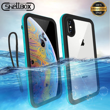 SHELLBOX IP68 Waterproof Case For iPhone 7 8 Plus XS Max XR Swimming Cover Case For iPhone 12 11 Pro Max Water proof Phone Case