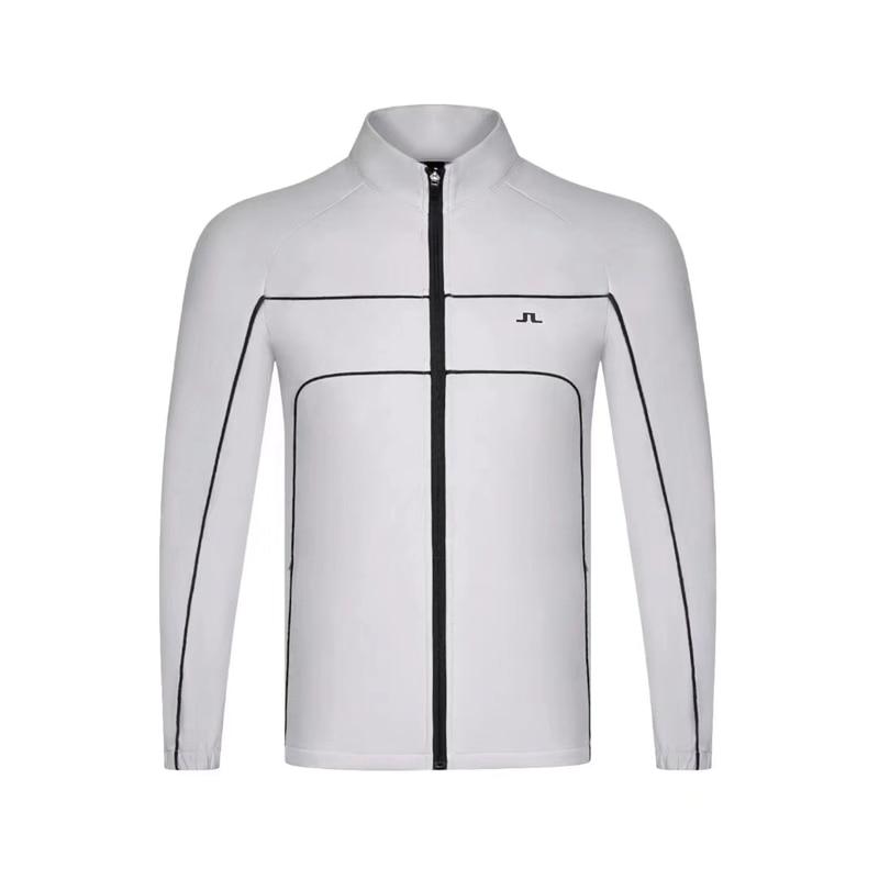 New Men's Golf Sportswear JL Men's Golf Fall/Winter Plus Velvet Golf Windbreaker Jacket Swirling Golf Jacket Free Shipping
