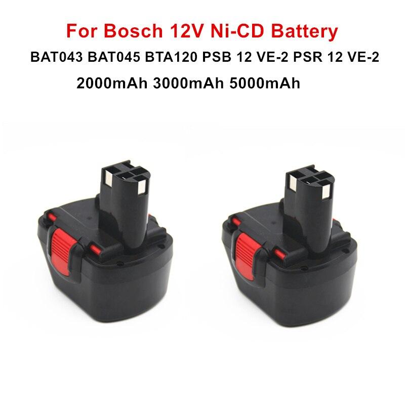 5000mAh 12V Li-Ion BAT043 Rechargeable Battery For BOSCH GSR 12 VE-2 GSB 12 VE-2 PSB 12 VE-2 BAT043 BAT045 BTA120 2607335430