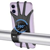 Soporte giratorio de silicona para teléfono móvil de bicicleta y motocicleta, para iPhone 11, 12, Samsung