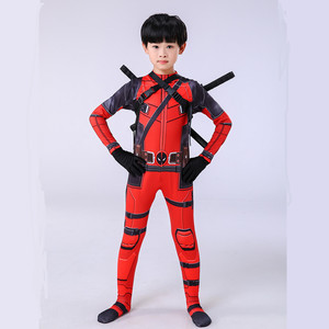 Image 5 - Deadpool Deadpool סרבל ליל כל הקדושים תלבושות ילדי Deadpool Cosplay תלבושות למבוגרים סט