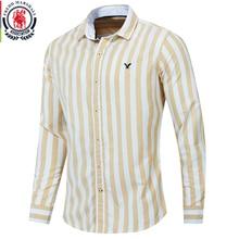 Fredd Marshall 2019 Herbst Neue Männer Gestreiftes Hemd Casual Soical Langarm 100% Baumwolle Shirts camisa masculina Homme Tops 221