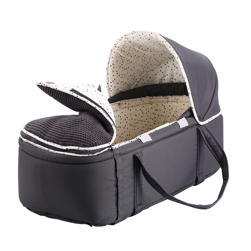 Baby Portable Bed Bag Foldable Newborn Travel Crib Carry-on Nest Bed Diaper Bag Bed For Baby 0-8M