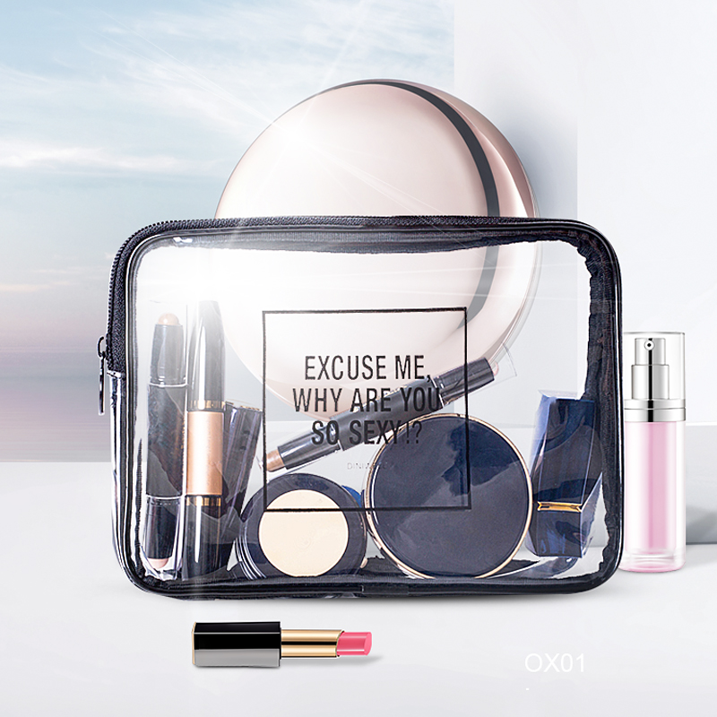 PVC Transparent Cosmetic Bag Waterproof Clear Pouch Organizer Makeup Bags Women Travel Toiletry Case Accessories Bulk Supplies