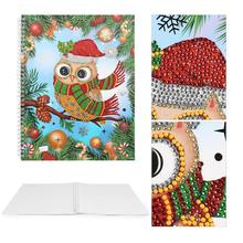 DIY Christmas Owl Special Shaped Diamond Painting 50 Pages A4 Notebook Gift painting school supplies for students
