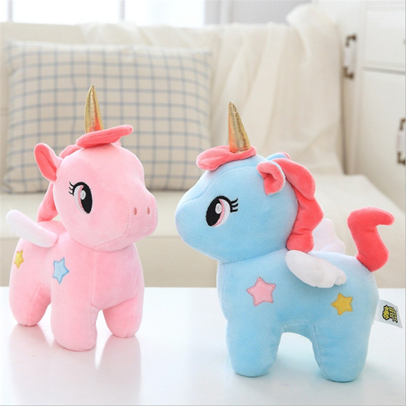 25cm Soft Unicorn Plush Toy Baby Kids Appease Sleeping Pillow Doll Animal Stuffed Plush Toy Birthday Gifts For Girls Children