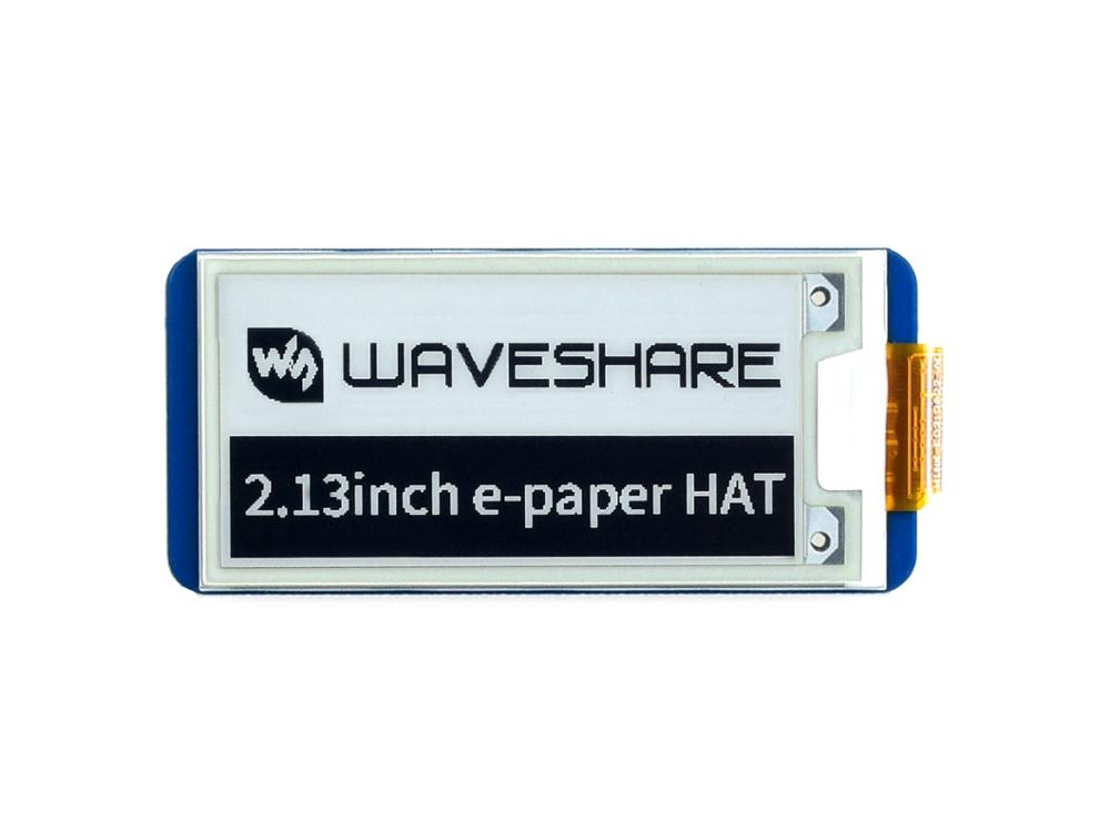 Waveshare 2.13inch E-Ink Display HAT For Raspberry Pi 250x122 Resolution E-Paper SPI Supports Partial Refresh Version 2