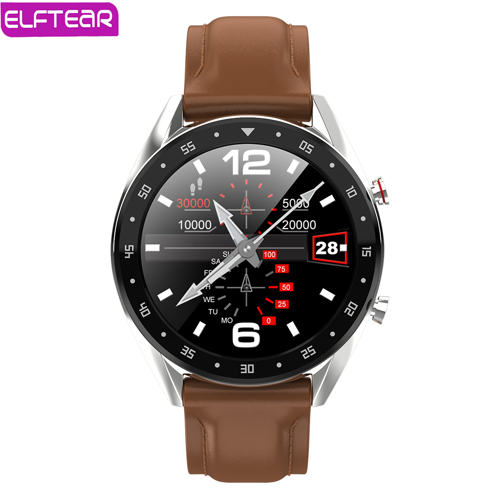 ELFTEAR L7 Smart Watch Bluetooth Call Smartwatch Ip68 Waterproof ECG Heart Rate monitor Men For Android IOS Full Screen Touch|Smart Watches| |  - AliExpress