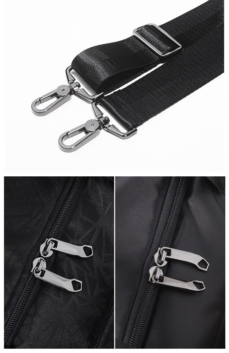 mulheres preto anti-roubo bolsa para homens duffle saco com bolsa de sapato