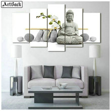 Diamond painting stone Buddha diy 5d full square & round drill orchid religious diamond mosaic crafts embroidery five spell icon