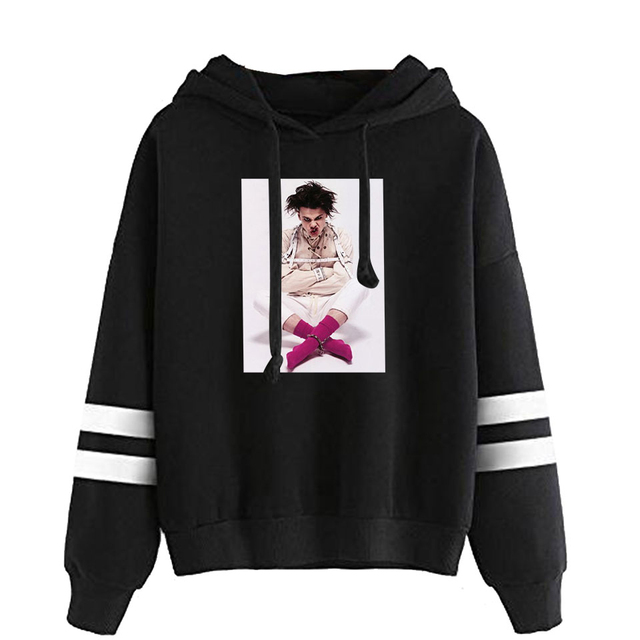 YUNGBLUD THEMED STRIPED HOODIE (28 VARIAN)