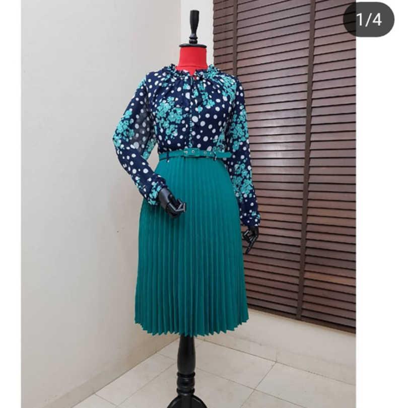 W nowym stylu afrykańskie kobiety odzież Dashiki modny nadruk sukienka z tkaniny rozmiar L XL XXL XXXL