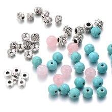 Estilo étnico 8mm cuentas de piedra Natural de la joyería de DIY embalaje Boho ronda cuentas de piedra pulsera DIY haciendo accesorios de moda