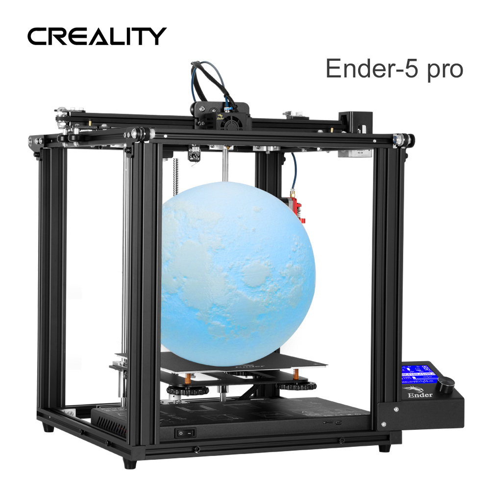 CREALITY 3D Upgrade Vison Ender-5 Pro Printer Double Y-Axis Power Off Resume Printing With Silent Mainboard Controller
