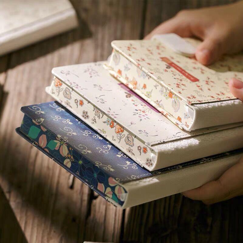 Sharkbang 128 листов А5 холст винтажный цветочный блокнот журналы ежемесячный недельный ежедневник планировщик рабочий блокнот|Записные книжки|   | АлиЭкспресс