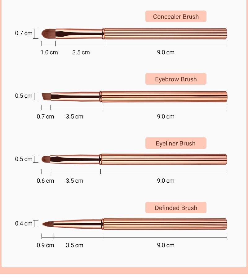 makeup brushes 12