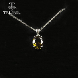 Image 4 - Natural Colorful Tourmaline Pendant necklace ,opal pendant necklace 925 sterling silver fine jewelry for women tbj jewery 2020