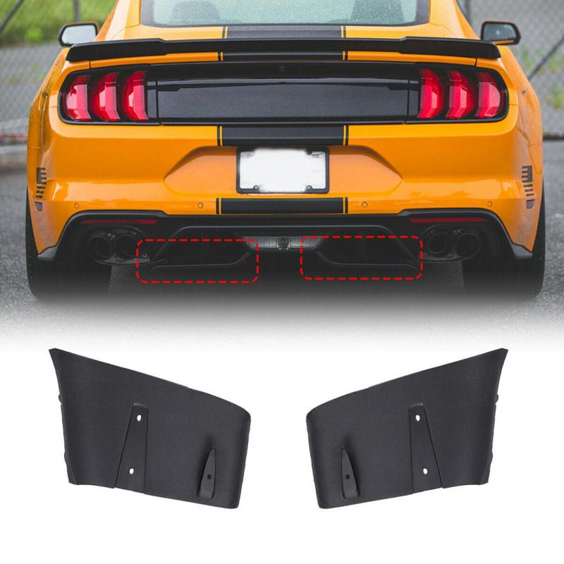 1 Pair Rear Bumper Lip Air Diffuser Valance Foil Kit ABS For Ford For Mustang 2018 2019 GT R Style Car Exterior Parts