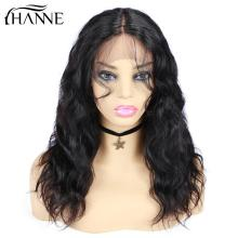 HANNE Hair Human Hair Wigs Natural Wave Wigs Remy Brazilian Middle lace Part Wig perruque cheveux humain for Black Women natural wave lace front human hair wigs middle part short remy wig for black women perruque cheveux humain 1b 99j hanne hair