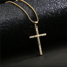 13 estilo de ouro cor cruz colar para homens moda cz cristão jesus escritura cruz colar oração gargantilha atacado