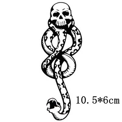 Waterproof Temporary Tatoo Fake Tattoo Sticker DEATH EATERS Skull Snake Tattoos Stickers Tatouage Tatto For Men Boy Girl Women