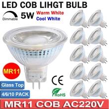 Dimmable AC220V LED MR11 Spotlight Light Bulbs 5W Full Glass