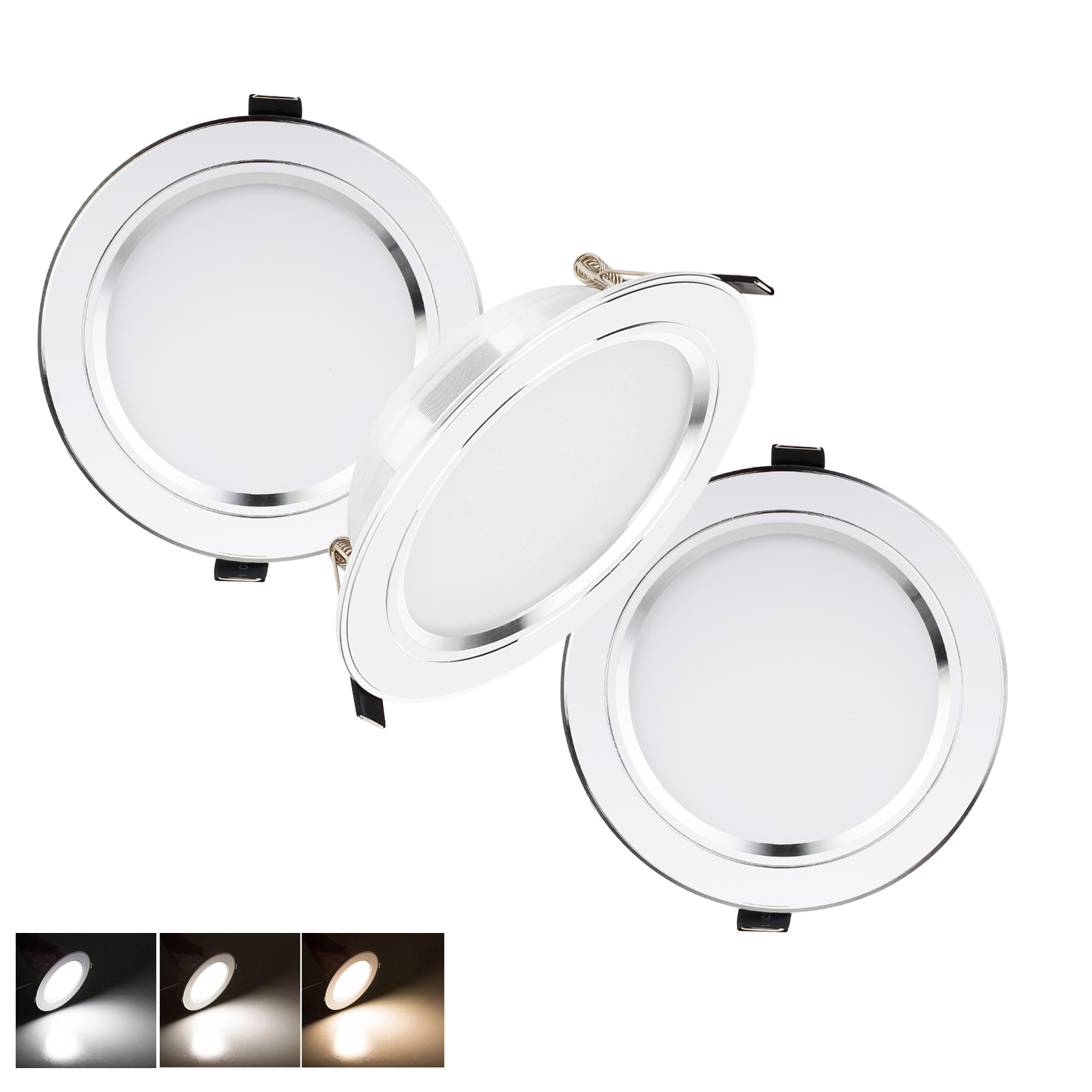 YORYZENG LED Recessed Ceiling Downlight Fixtures 112W 9W 7W 5W 3W Light Lamp 110V 220V With Driver Spot Light Indoor Lighting