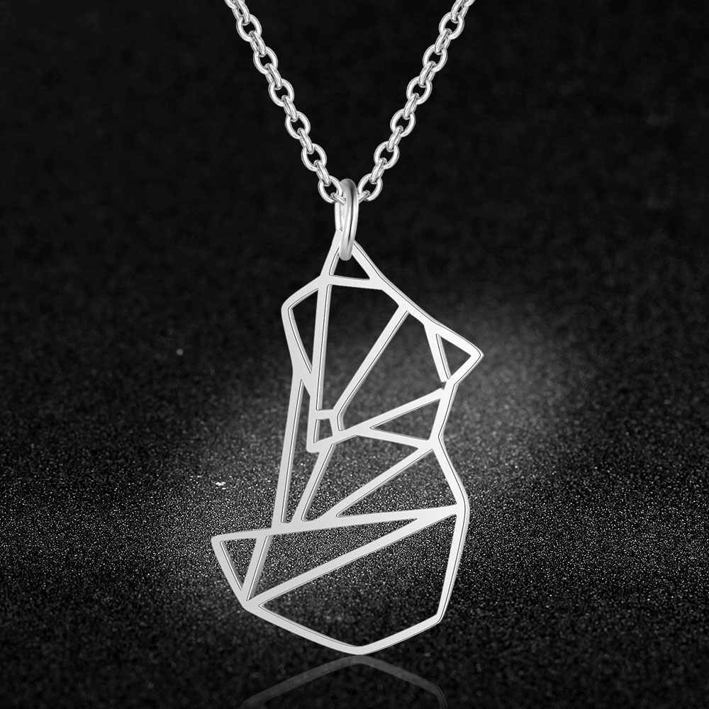 100% Real Stainless Steel Hollow Fox Necklace Personality Jewelry Super Quality Amazing Design Special Gift