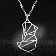 100% Real Stainless Steel Hollow Fox Necklace Personality Jewelry Super Quality Amazing Design Special Gift(China)