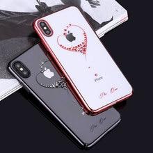 Bling Case สำหรับ iPhone XS/XS MAX 6.5/XR/X กลับคริสตัลเพชรแบรนด์หรูล้างบางกันกระแทกผู้หญิง