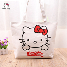 HELLO KITTY Shoulder Bag Handbag Fashion Trend Handbag Leisure Shopping Bag Hand Canvas Bag Hand Sleeve Pocket Lunch Box Bag