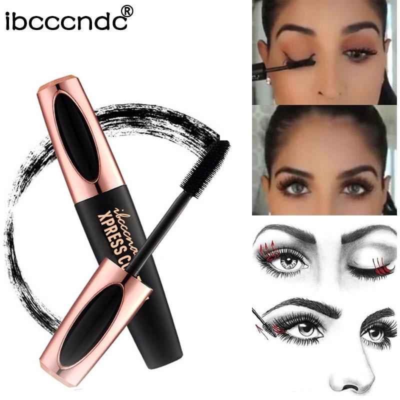 Hot Sale 4D Silk Fiber Lash Mascara Waterproof Rimel 3d Mascara Eyelash Extension Black Thick Lengthening Eye Lashes Cosmetics