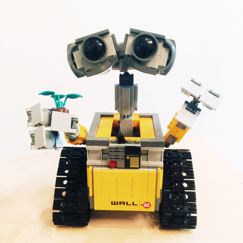 New 687Pcs Creators Idea Robot WALL E Building Blocks Compatible <font><b>Legoing</b></font> <font><b>21303</b></font> Technic Robot Model Toys Gift image