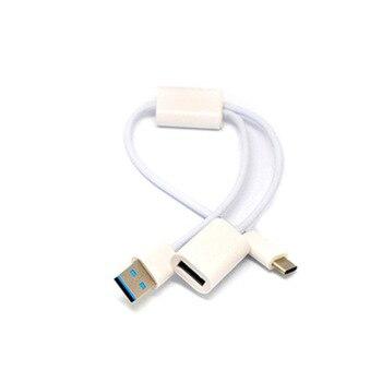 2 w 1 USB 3.1 type-c męski na USB-A męski i USB 3.0 żeński OTG Micro Hub Y przejściówka rozgałęziająca kabel do ładowania