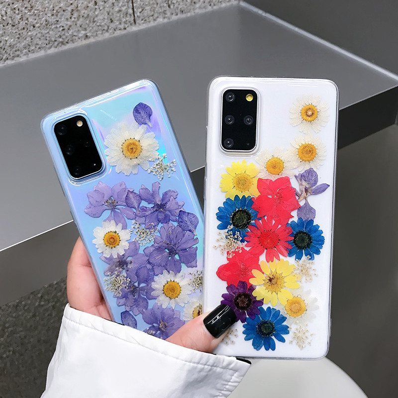 Real Dried Flower Clear Phone Case for iphone 11 12 Pro Max 12 Pro 12 Mini 6 6s 7 8 Plus X Xr Xs Max silicone Transparent Cover