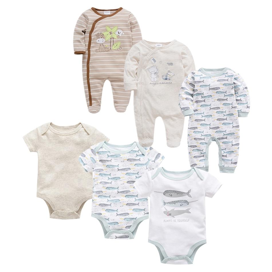 Newborn Baby Boy Autumn Jumpsuit Cotton Climbing Clothes 0-12M Kid Footed Pajamas Long Sleeved Infant Girls Cartoon Clothing Set