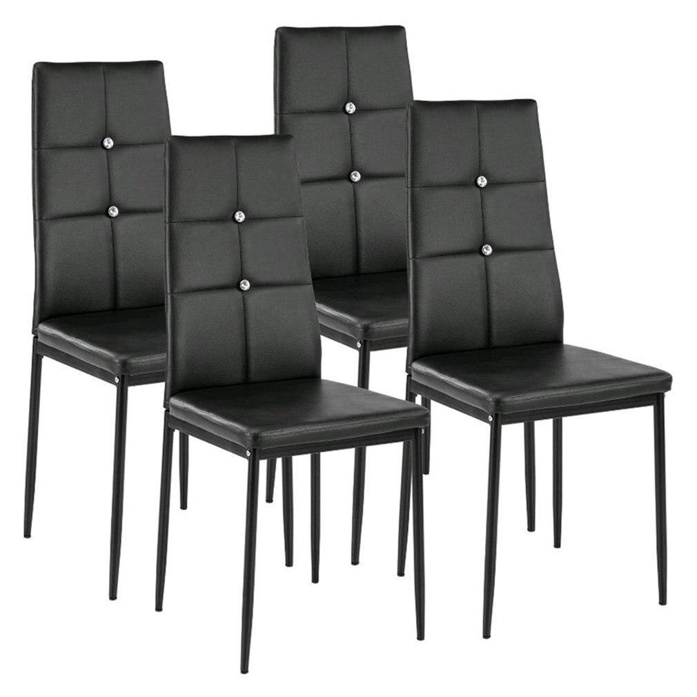 Ensemble de 4 salle à manger/bureau chaise haute dossier barre café chaise Design moderne pour salle à manger cuisine petit déjeuner siège chaises meubles de maison