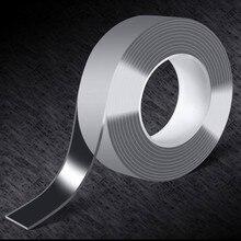 1m/2m/5m nano fita mágica dupla face fita transparente nenhum traço reusável impermeável fita adesiva limpa casa gekkotape