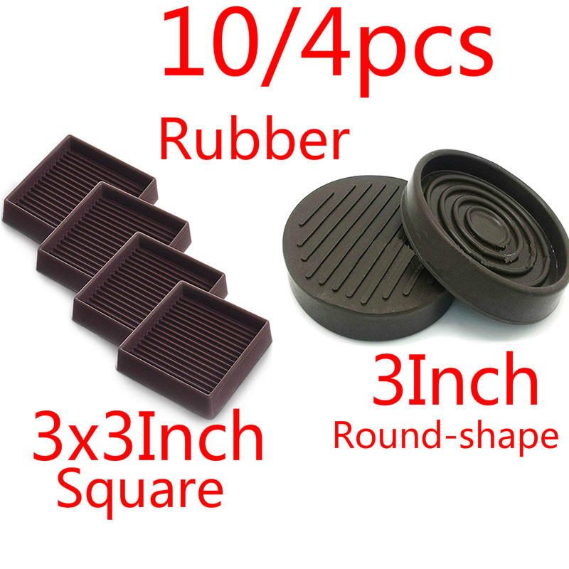 10/4/2pcs 3Inch Rubber Round-shape Square Brown Furniture Caster Cups Covers Protector Anti-slide Table Chair Legs Feet Covers