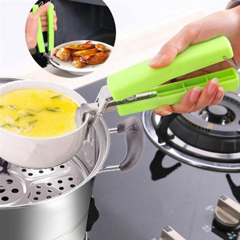 Stainless Steel Bowl Clip Universal Handheld Plate Holder Microwave Oven Kitchen  Multi-functional Anti-hot Clamp Color Random
