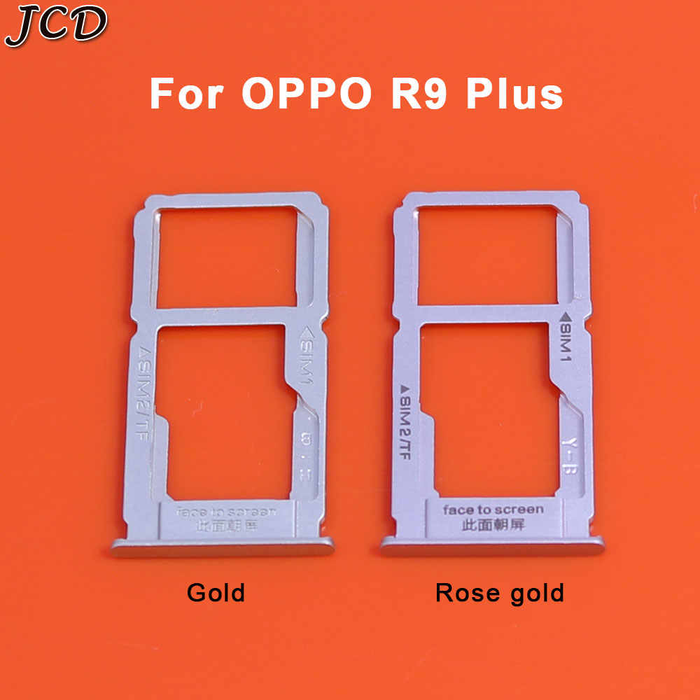 JCD سيم بطاقة صينية فتحة حامل الناقل الحاويات إصلاح جزء ل oppo oppo R9 R9plus R9S R9S زائد R9SK