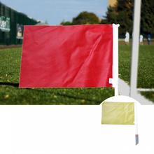 Practical Sweat Absorption Handle Referee Flag Fabric Football Referee Flag Easy to Carry for Soccer Game