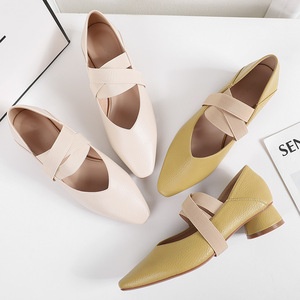 High heel women spring and summer 2020 new mid-heel ankle strap women's shoes Fashion Mary Jane shoes high heels ladie shoes