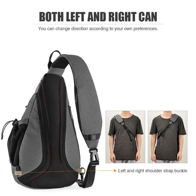 Mixi Men One Shoulder Backpack Women Sling Bag with USB 3