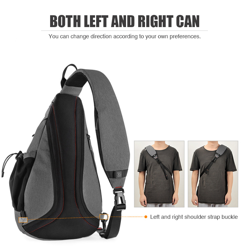 Image 3 - Mixi Men One Shoulder Backpack Women Sling Bag USB Boys Cycling 
