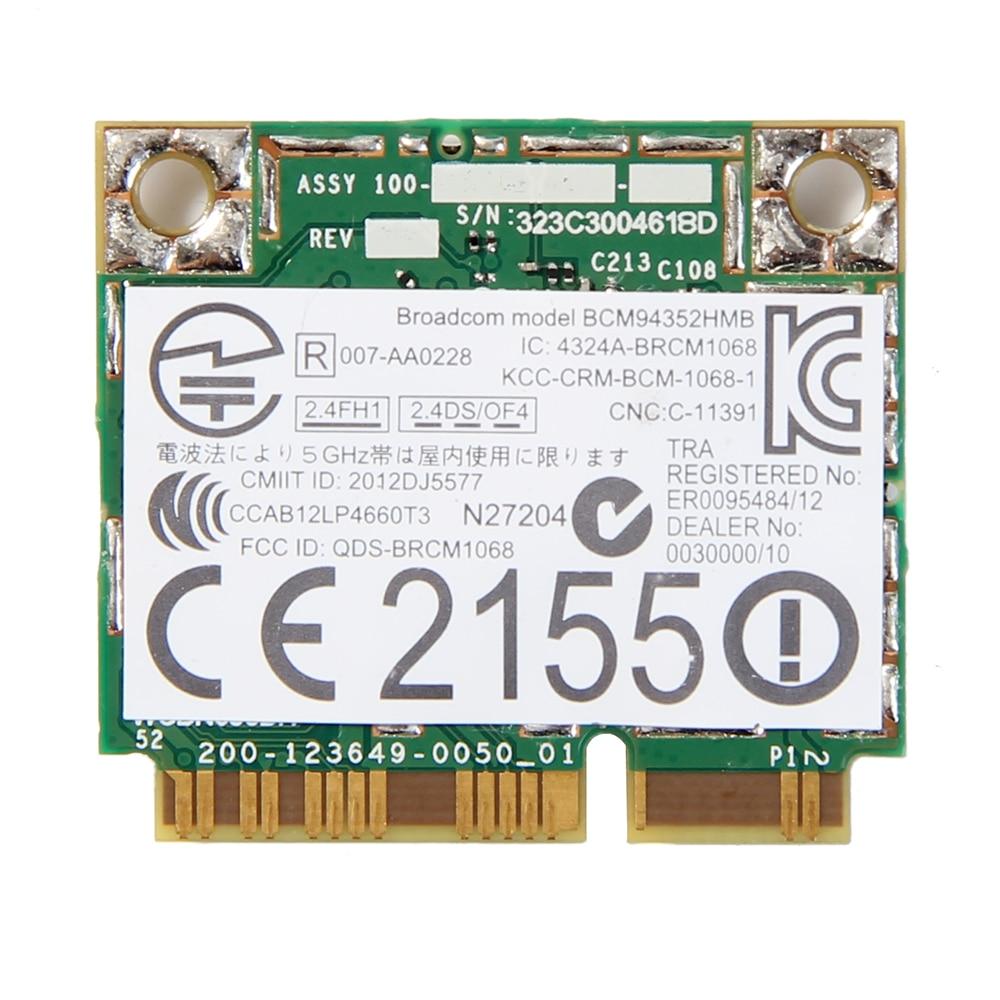 Dual Band Wireless-AC For BCM94352HMB 867Mbps WLAN + Bluetooth BT 4.0 Half Mini PCI-E Wifi Wlan 802.11ac Card DW 1550