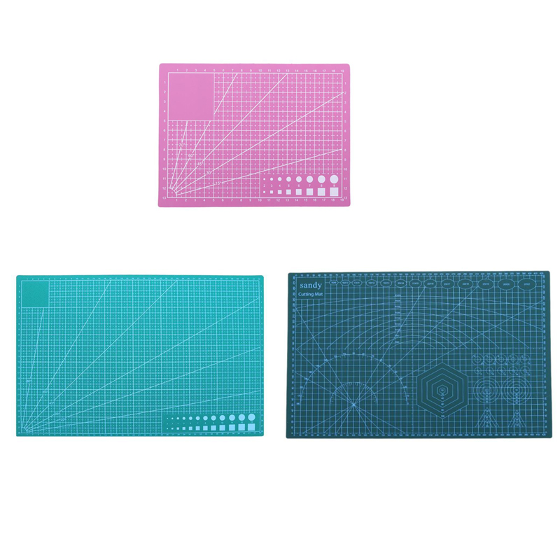 Professional A3 A5 Cutting Mat PVC Double Sided Self-healing Non Slip DIY Cutting Board Patchwork Mat Pad Fabric Paper Tools